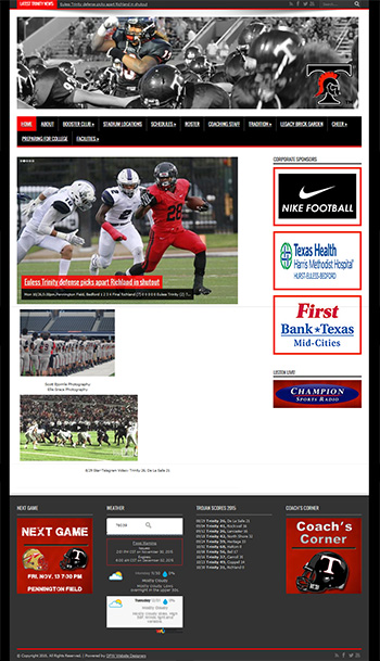 Click to See the Trinity Trojan Football site