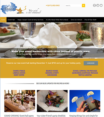 Click to See Aladdin Rental & Events site