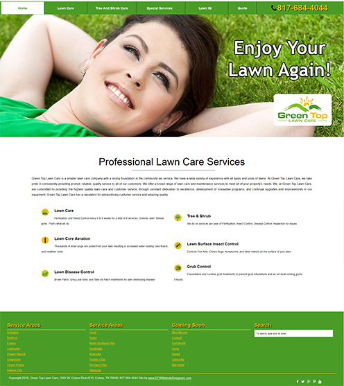 Green Top Lawn Care New Website